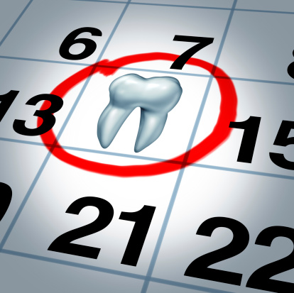 A dental appointment scheduled on the calendar with tooth symbol at Edward I. Jutkowitz, D.M.D., P.C. - Periodontics and Implantology